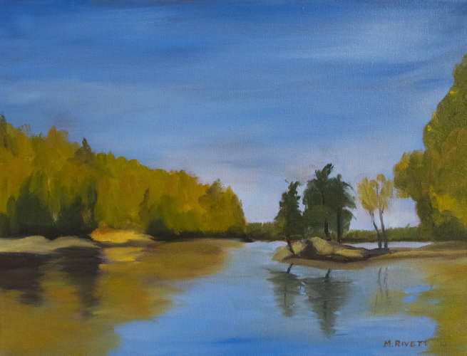 Still Creek, Oil, 12x16 (framed: Gallery Wrap), $$100.0000