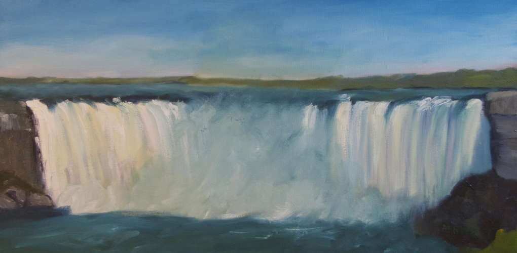 Niagara Falls, Oil, 10x20 (framed: Gallery Wrap), $$0.0000