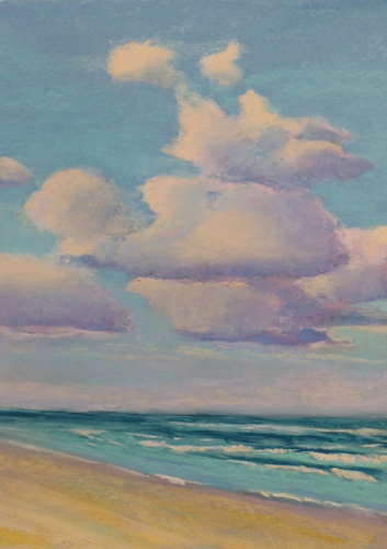 Clouds Over The Beach, Pastel, 7 x 10 (framed: 11 x 14), $$125.0000