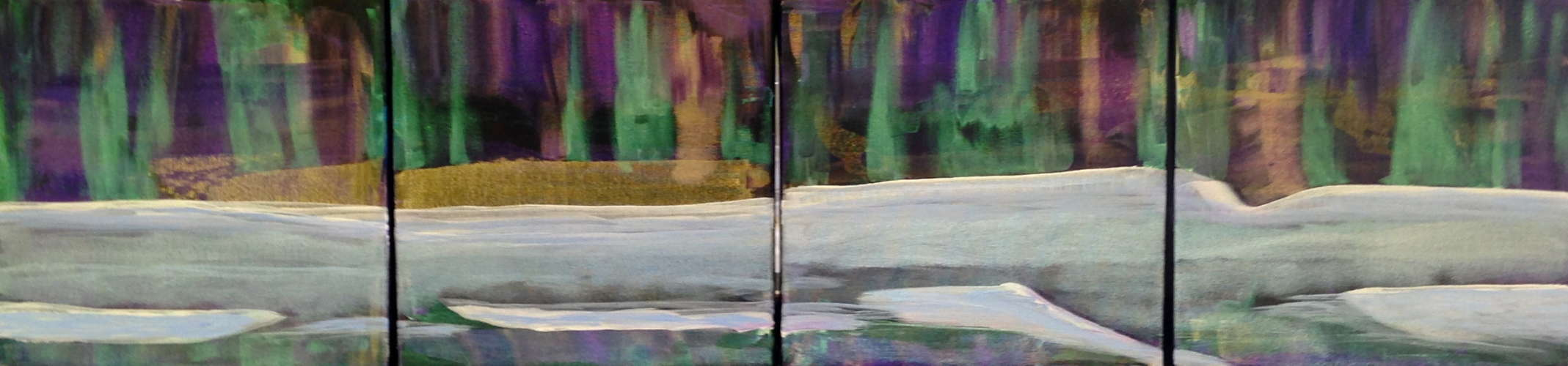 Northern Lights, Acrylic, 10 x 40, $$325.0000