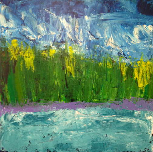 Northern Landscape, Acrylic, 24 x 24, $$375.0000