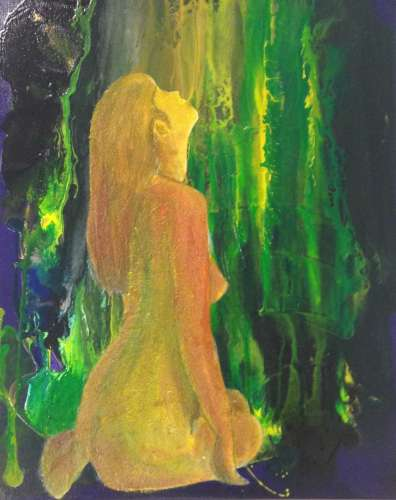 Sitting In The Light, Mixed media, 20 x 16, $$175.0000