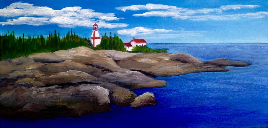 East Quoddy Head Lighthouse, Oil, 10 x 20, $$300.0000