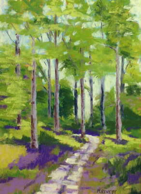 Sabal Point Trail, Pastel, 15x11 (framed: 20 x 24), $$375.0000