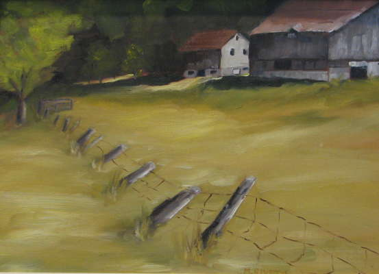 Summer Farm, Oil, 12x16, $$0.0000