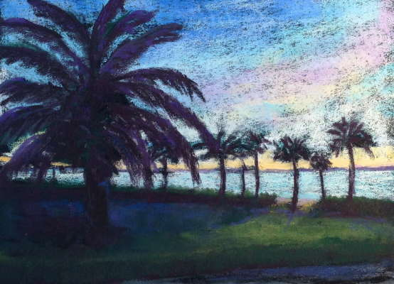 Sanibel Sunrise, Pastel, 9x12 (framed: 13 x 16), $$200.0000