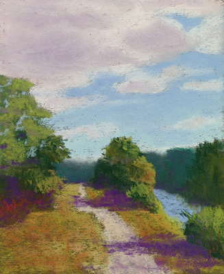 Afternoon Walk, Pastel, 8x10 (framed: 13 x 15), $$300.0000