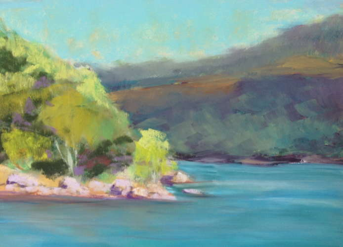 River Study, Pastel, 5x8 (framed: 9x12), $$100.0000