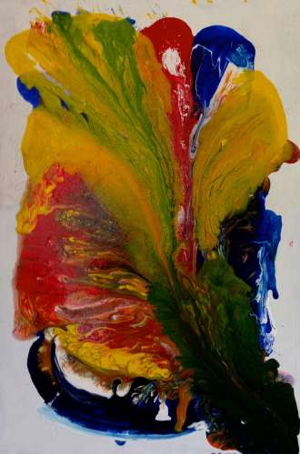 Primary Flower, Acrylic, 36 x 24, $$400.0000