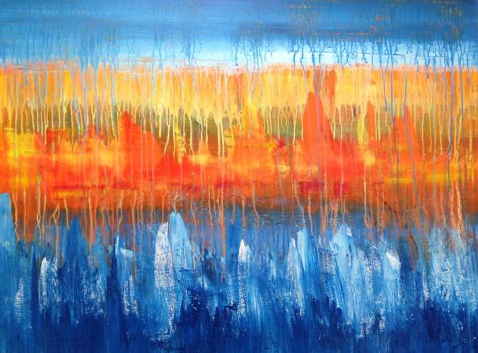 Fire and Ice 3, Acrylic, 30 x 40, $$500.0000