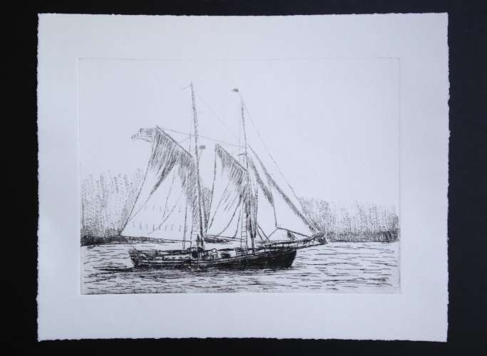 Setting Sail, Ink, 6 x 8 (framed: 11 x    14), $$65.0000