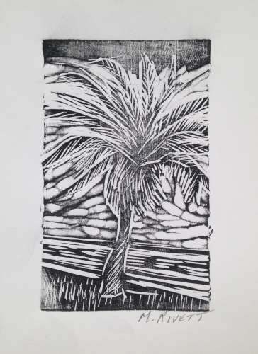 "Lake Eustis Palm, Ink, 6"" x 4"", $$20.0000"